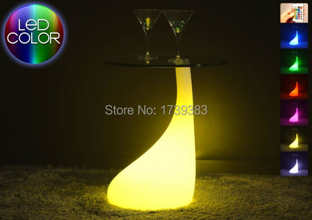 Remote Control LED light bedside table Multi - MELT Coffee Table Light LED Multi Modern Furniture for bedrooms/bar