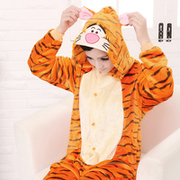 Free Shipping Jumping Tiger Onesie Kigurumi Animal Pajamas Adult Anime Cosplay Costume Unisex Onesie Sleepwear