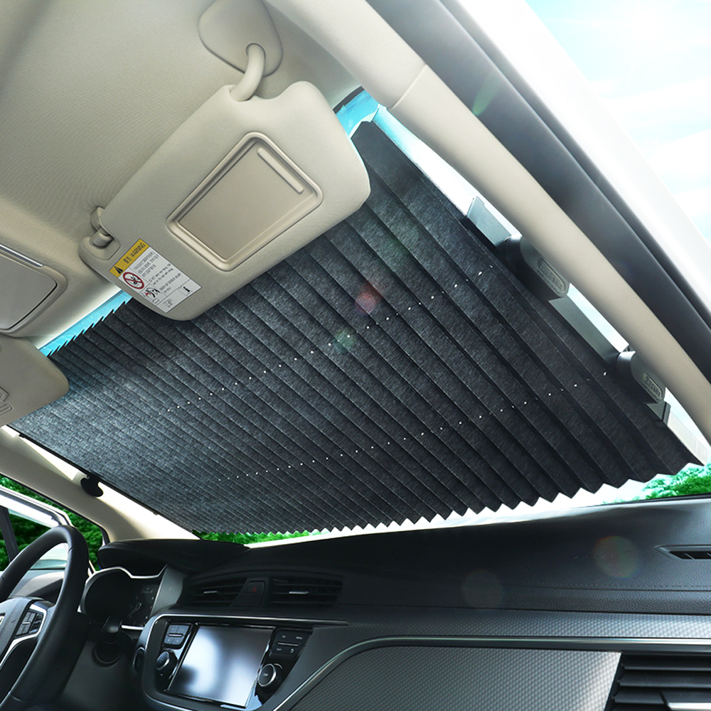 New Automatic Car Sun Shade Car Window Sunshade Car Shade Rear Window Sun Visor UV Protection Curtain 46CM/65CM/70CM/80CM