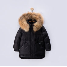 HSSCZL boys girls duck down jackets 2019 boy new winter thicken kids baby infant outerwear child hooded children's clothing 2-6Y(China)