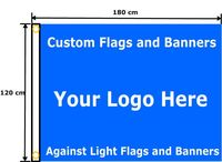 120 x 180 cm Full Color Single Sided Custom Flag Customized Personalized Logos Signs For Flags and Banners With Grommets