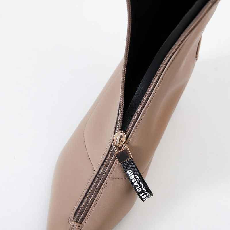 ALLBITEFO metal zip yüksek topuklu parti kadın çizmeler yüksek kaliteli kadınlar yüksek topuklu ayakkabılar kadınlar için kış çizmeler martin çizmeler