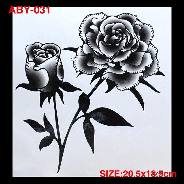 3d Diy Rosas Negras Totem Brazo Y Cuerpo Tatuajes Grandes Coloridos
