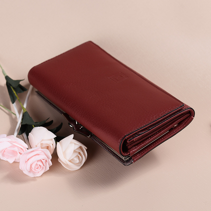 New Arrival women wallet rear genuine leather wallet cow leather purse female brand cluth lady coin