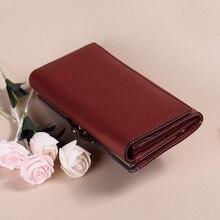 Новое Прибытие женщины бумажник задняя подлинной кожаный бумажник корова кожаный кошелек женский бренд cluth леди монета зажимы для денег