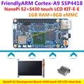 S5P4418 Cortex-A9 NanoPi S2(1G RAM,8GB eMMC,1.4GHz)+S430 touch HD LCD+Heatsink=NanoPi S2 KIT-E-E(Runs u-boot,Android5.1,Debian8)
