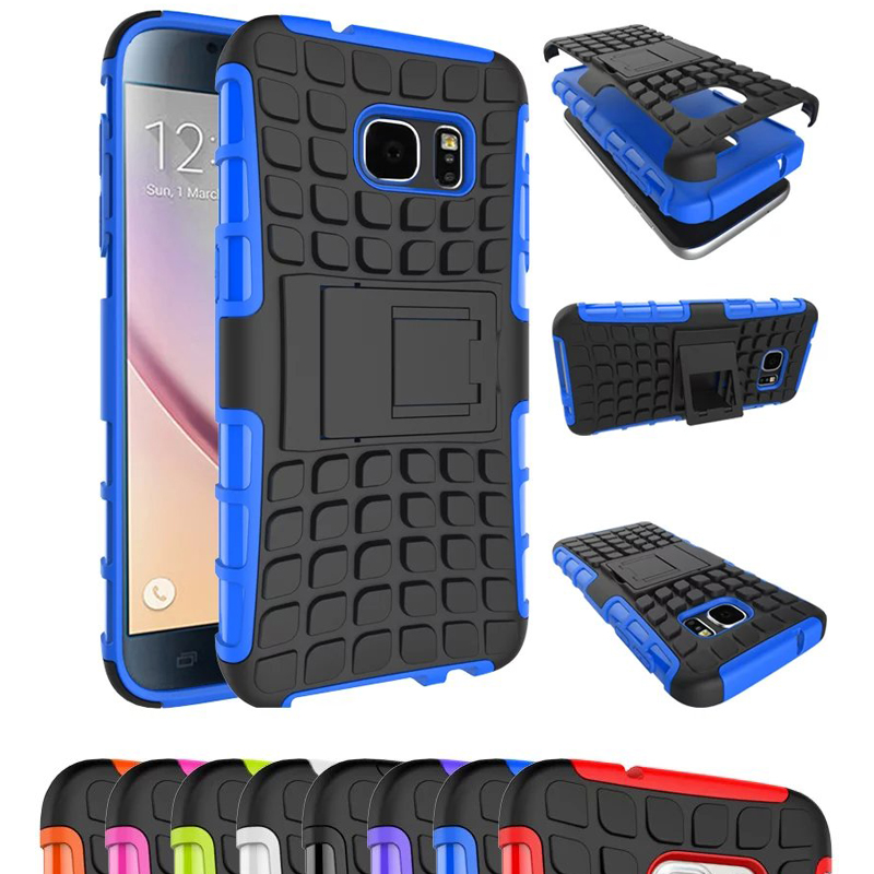 Kickstand Shockproof Anti-knock Armor Shockproof Hybird Hard Rugged Rubber Case Cover For Samsung Galaxy S3 S4 S5 S6 S7 edge