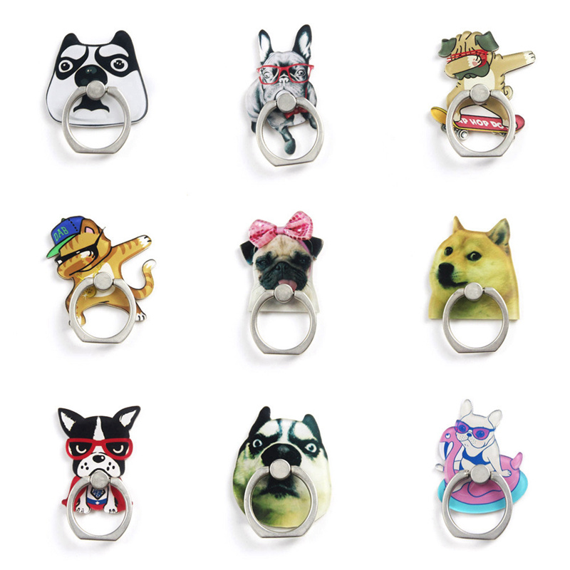 2019 New Cartoon Creative Funny Dog Funny Dog Cat Acrylic Mobile Phone Ring Bracket For Apple 6s 7 8 XR XS Max