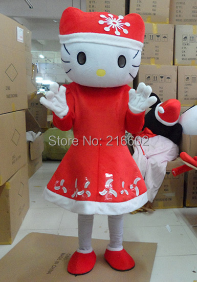 Mascot costumes for adults christmas Halloween Outfit Fancy Dress cosplay costume Suit Free Shipping Christmas hello Kitty