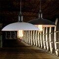 Sótão Retro Aparelho de Iluminação de Ferro Do Vintage Pingente de Cristal do Candelabro Da Lâmpada com Edison Lâmpada E27 40 W 1.2 m cabo AC110V-220V 32x16 cm