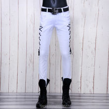 high quality 2017 New Arrival CosMaMa brand mens solid designer korean fashion slim skinny Punk biker casual jeans