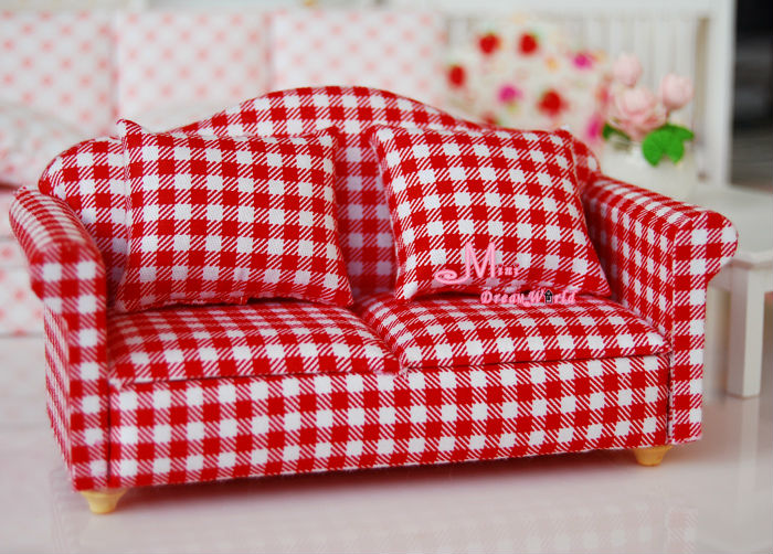 Red Gingham Sofa Great Red Gingham Sofa 11 About Remodel