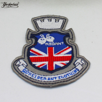 Embroidered Budges Sewing On Patches Union Jack Flags Appliques 9.5*8.0cm image