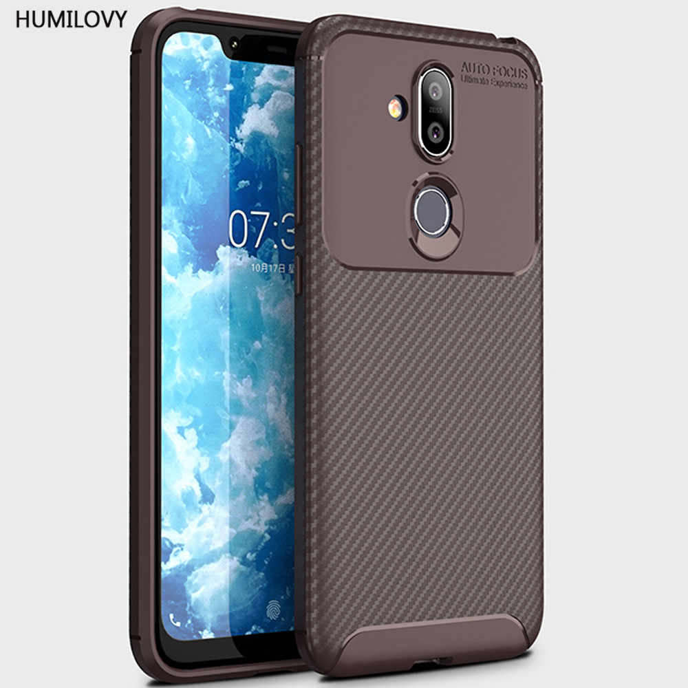 online store a4a3f 7d68b For Nokia 7.1 Plus Case for Nokia X7 Case Silicone Rugged Armor Soft Back  Cover Cases For Nokia7.1 Plus TA-1131 Fundas Coque