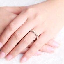 ZOCAI Real 18K Yellow / Rose / White Gold 0.17 ct Certified Genuine Diamond Wedding Ring I-J / SI Genuine Diamond W04546