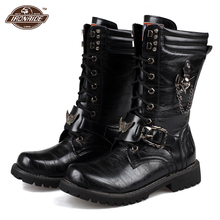 Motorcycle Boots Motorcycle Shoes PU Leather Martins Boots Motorbike Racing Riding Mid Calf Motorcycle Shoes