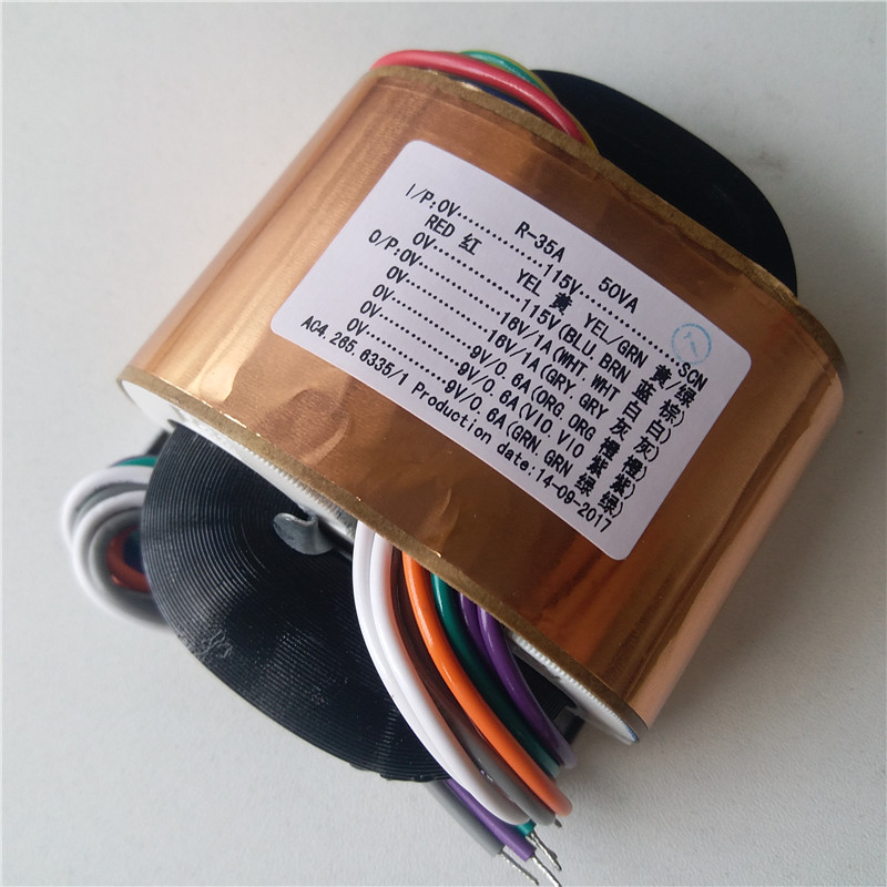 2*16V 1A 3*9V 0.6A R Core Transformer 50VA transformer 115/115V input DAC tube Headphone pre-amplifier CD player цена и фото