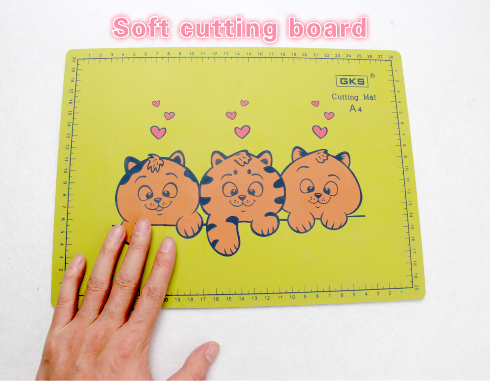 A4 Pvc Cutting Board Rectangle Grid Lines Self Healing Cutting Mat Tool Fabric Leather Paper Craft DIY Tools Cutting Plate Pad