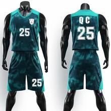 Новая индивидуальная Мужская одежда для баскетбола костюм Быстросохнущий Спортивный костюм Джерси на заказ для бега