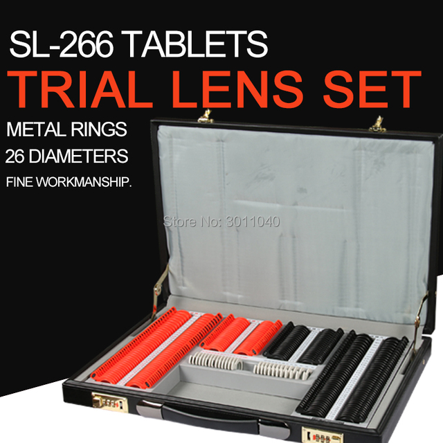 Trial Lens Set 266 pcs Lens Evidence Box Plastic Rim A Class Quality Eyeglasses shop equipment Optical equipment
