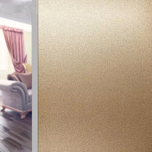 Gold Frosted Glass Window Film Sticker Privacy glue-free Office Static Cling PVC Self-Adhesive Decorative vinyl window stickers