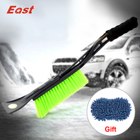 EAST High Quality Multifunctional Telescopic Foldable Snow Shovel Snow Brush Ice Scraper For Car Window Cleaning