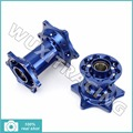 Blue New CNC Billet Complete Front Rear Motorcross MX CNC Wheel Hub Set for Yamaha YZF 250 450 YZ250F YZ450F 14 15