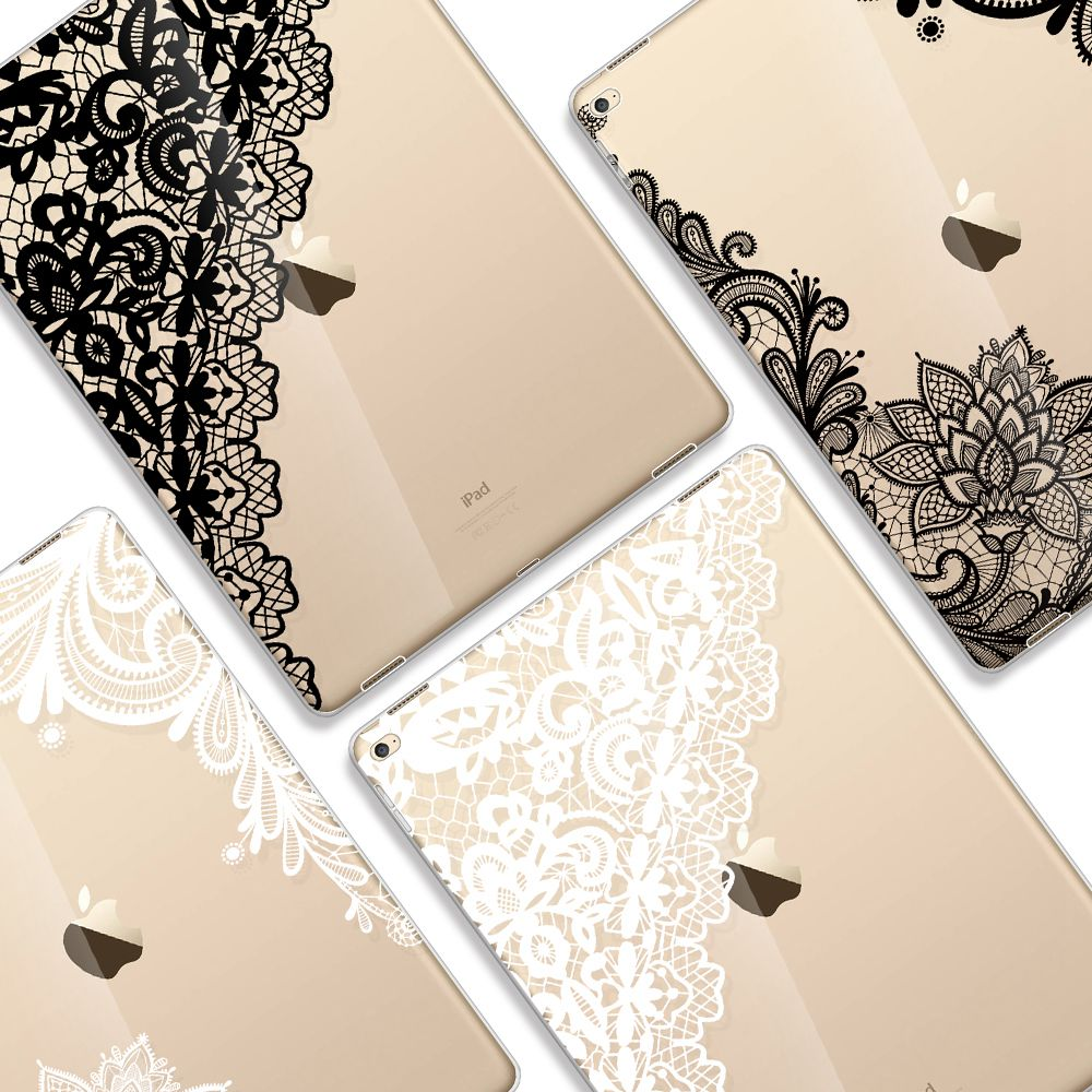 Case For Ipad 5 Case Lace Flower Transparent Cover For Apple Ipad Air Cover For Ipad Air 1St Case For Apple New Ipad 5