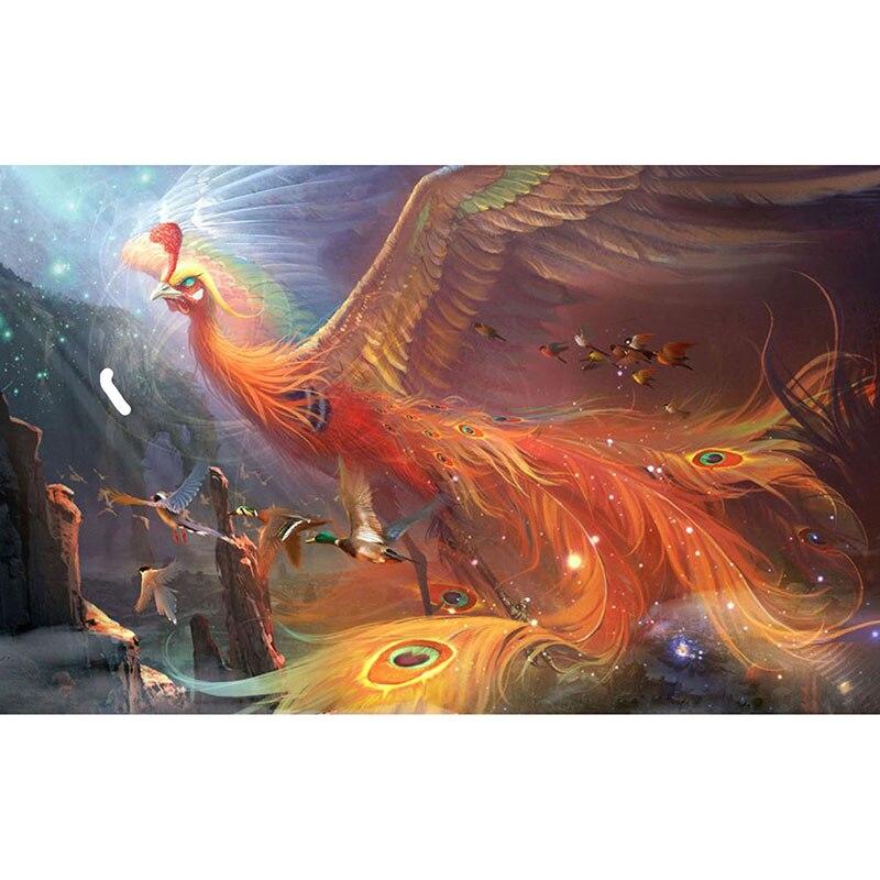 5D bricolage diamant peinture montée de l'animal phoenix pleine perceuse carré rond diamant broderie point de croix rhinesto mosaïque décor