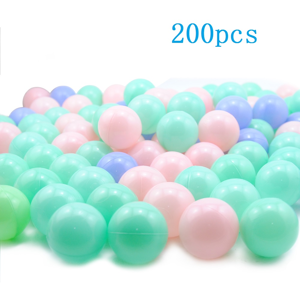 200pc Eco-Friendly Soft Ocean Ball For Baby Play Bath Toys For Child Plastic Water Pool Ball Stress Air Ball Outdoor Fun Toys