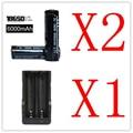 Alta Calidad 2x18650 6000 mAh 3.7 v Recargable de Ion de Litio + 1x18650 Cargador de Batería Doble (EE. UU. UE)