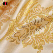 Modern Simple Cationic Shiny Gold Curtains Silk Jacquard Blackout Hotel Cafe Bedroom Window Drapes Blinds JS01C(China)