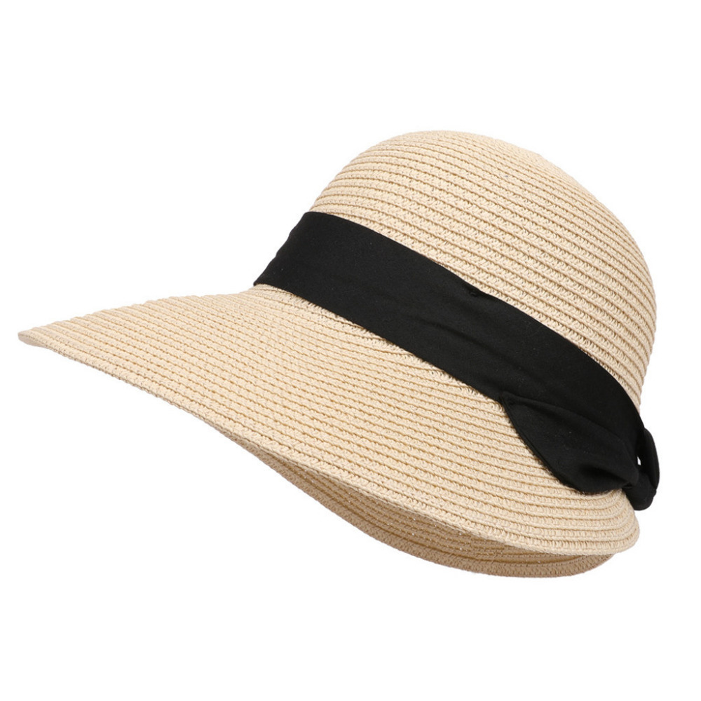 bd02c7e8 2019 new Spring Summer Outdoor Travel Sun Hat Fashion female Girls Weaving  Straw Beach Sun Protection Summer Hat