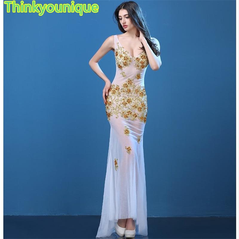 Long   evening     dresses   2019 V neck robe de soiree longue vestido de noche Sexy Trumpet mermaid gown Gold formal   Dresses   TK029