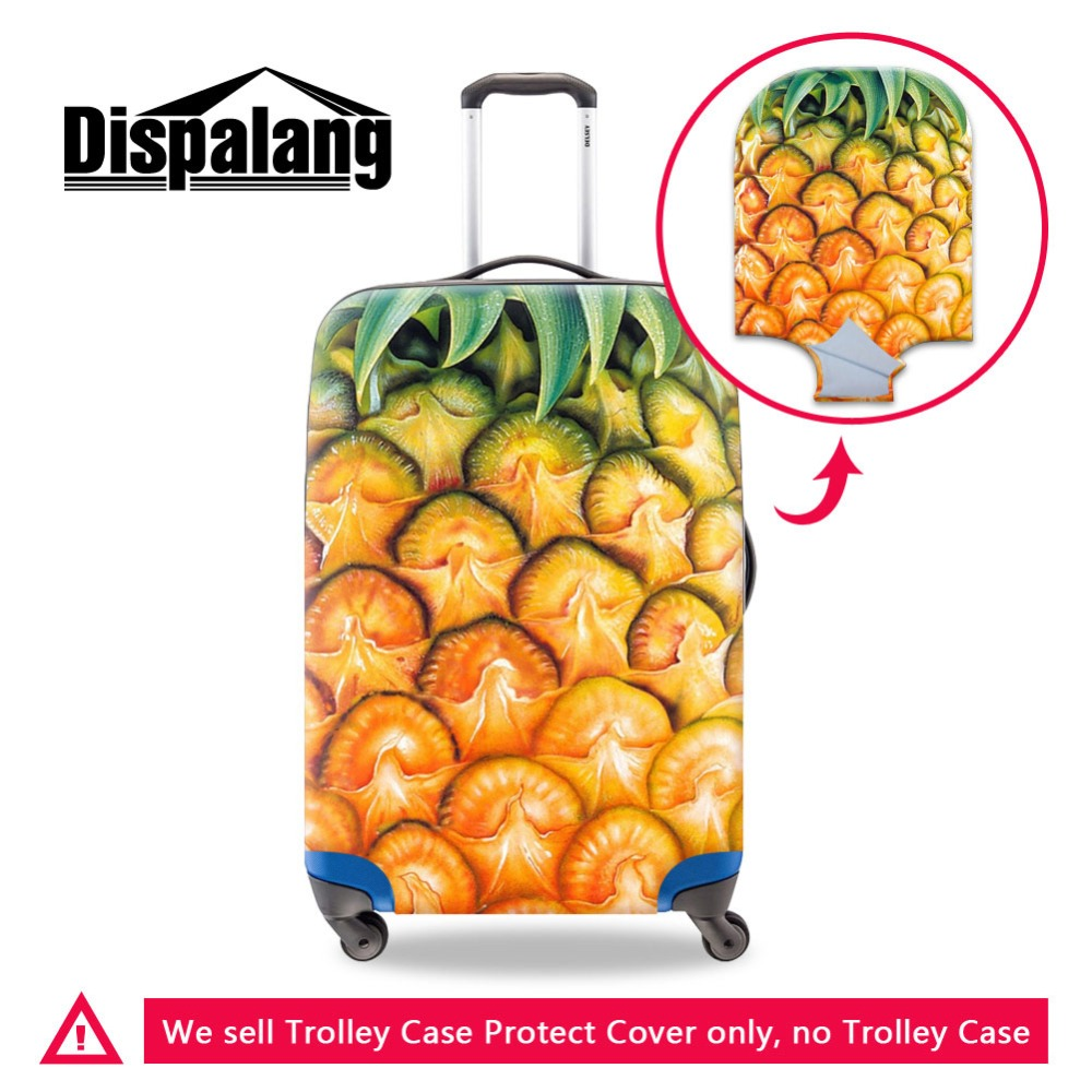 Dislapang Dust Pretty Baggage Protective Cover For Women Lady Printed Fruit Pineapple Pattern On Trolley Case Covers For Girl
