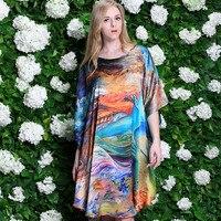 Women's 100%Silk Nightdress Large Size Home Wear 100% Mulberry Silk Sleepwear Female Summer Loose Nightdress