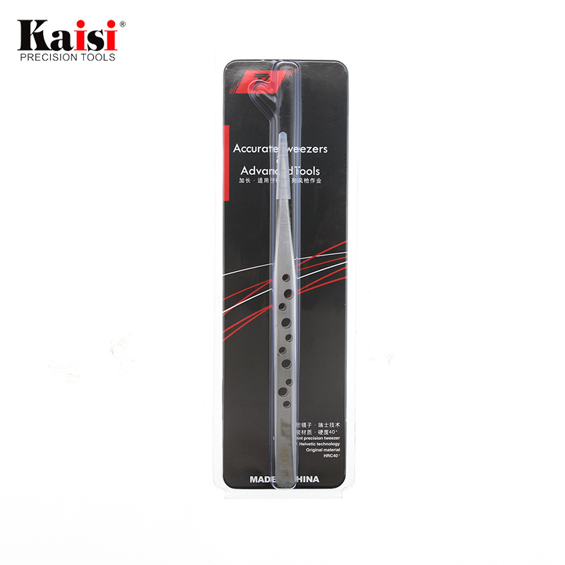 Kaisi Ultra Precision Tweezers Perforated Series AAA 11 15 16 Round tip stainless steel tweezers for iphone Repair tool in Industrial Tweezers from Tools