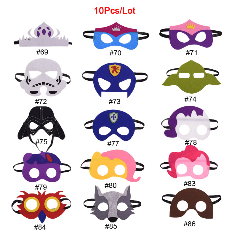 Us 7 82 13 Off 10pc Lot Superhero Mask Wolf Knight Star Wars Darth Vader Cosplay Mask Kids Birthday Party Diy Masquerade Costumes Masks Xmas In