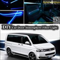 For Volkswagen VW Transporter T5 Caravelle Multivan interior Ambient Light Tuning Atmosphere Fiber Optic Band Lights Inside Door