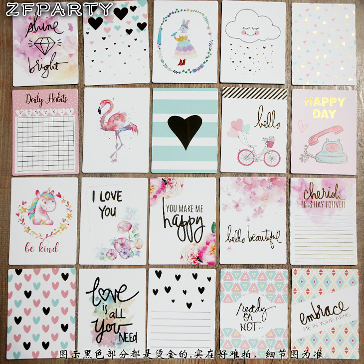 ZFPARTY 20Pcs Happy Day Cardstock Die Cuts For Scrapbooking DIY Projects/Photo Album/Card Making Crafts