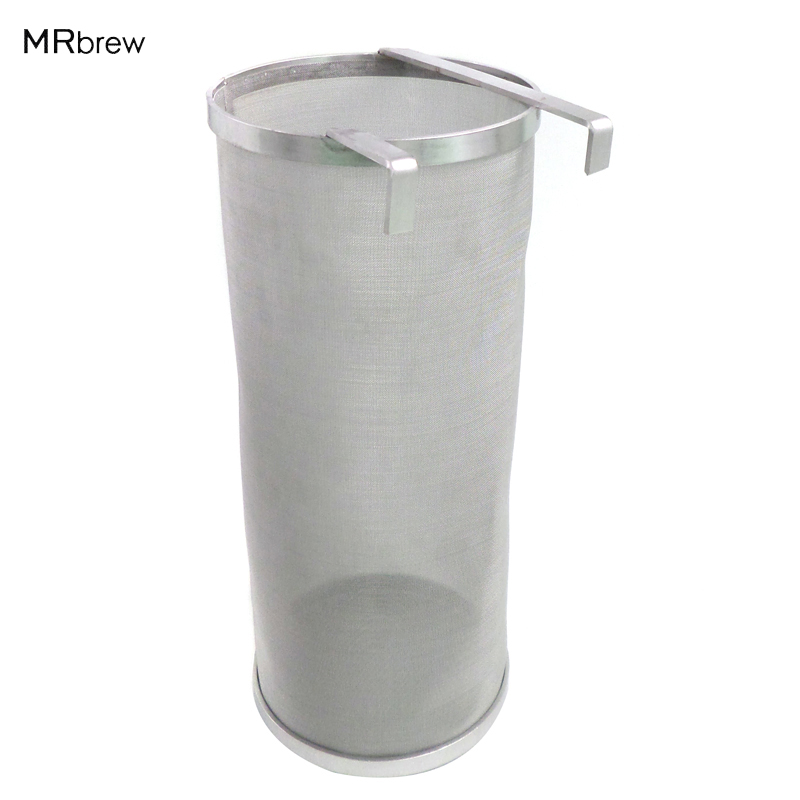Stainless Steel Hop Spider Home Brew Wine Beer Hop Filter Mesh Hop Strainer 300 micron mesh 6 x 14 (15cm x 35cm )Stainless Steel Hop Spider Home Brew Wine Beer Hop Filter Mesh Hop Strainer 300 micron mesh 6 x 14 (15cm x 35cm )