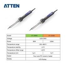 ATTEN 80 Вт/150 Вт Электрический паяльник станция 110 В 220 В с цифровой температура дисплея LCD Регулируемый паяльник советы