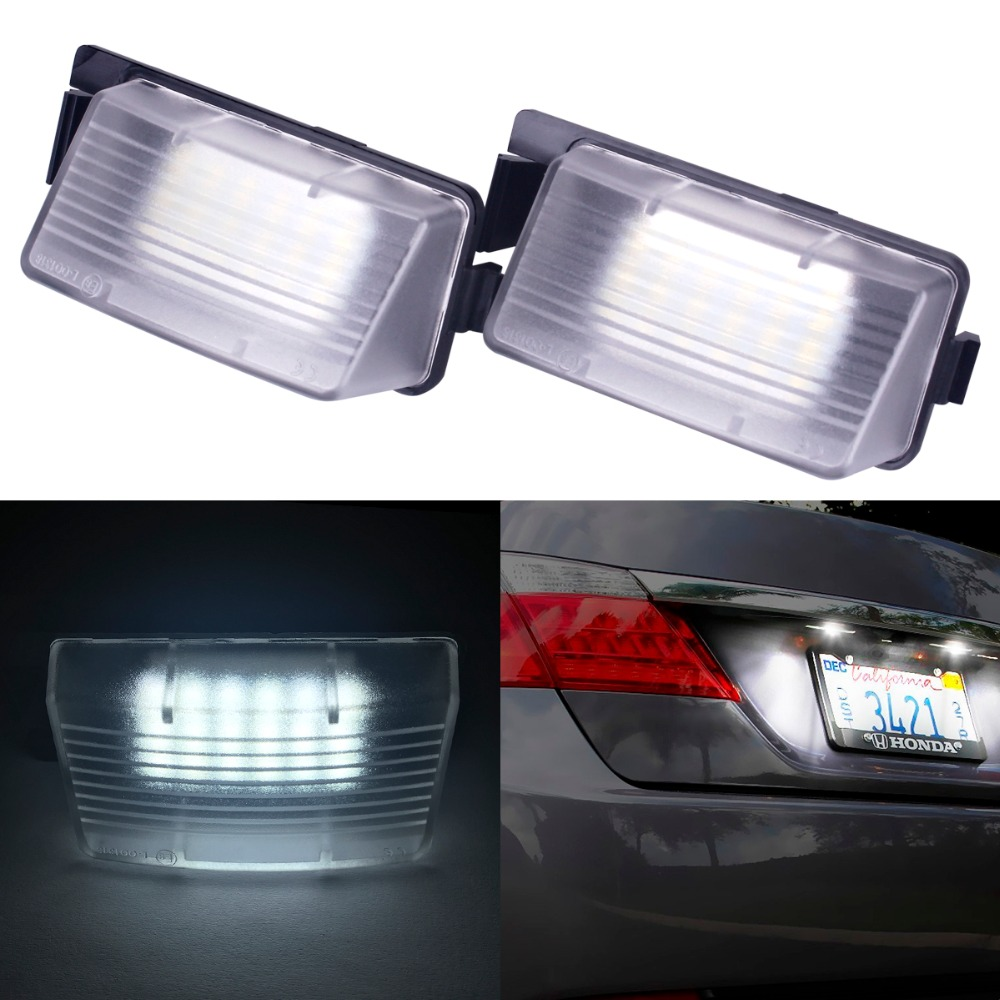 2Pcs White LED License Plate Light Replacement For NISSAN 350Z 370Z GTR For INFINITI G25 G35 G37 for nissan gtr gtr r35 led tail lights 2007 red