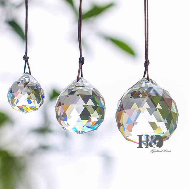 3pcs Lot Clear Suncatcher Lighting Ball 30 40 50mm Crystal Chandelier Prisms Parts