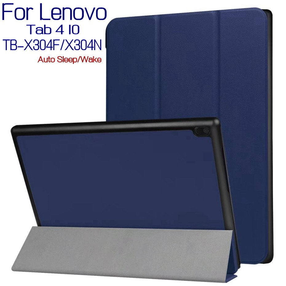 For Lenovo Tab 4 10 TB-X304F TB-X304N 10.1 Magnetic Stand Smart PU Leather Tablet Case Funda Cover+Free Screen Protector+Pen материнская плата gigabyte ga h81m s2pv socket 1150 h81 2xddr3 2xsata3 1xpci ex16 2xusb3 0 com dvi d sub glan matx ret
