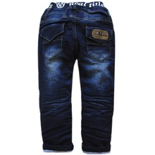 6013 winter kids boys jeans thick boys pants warm trousers new 2017 children's fashion clothing navy blue nice