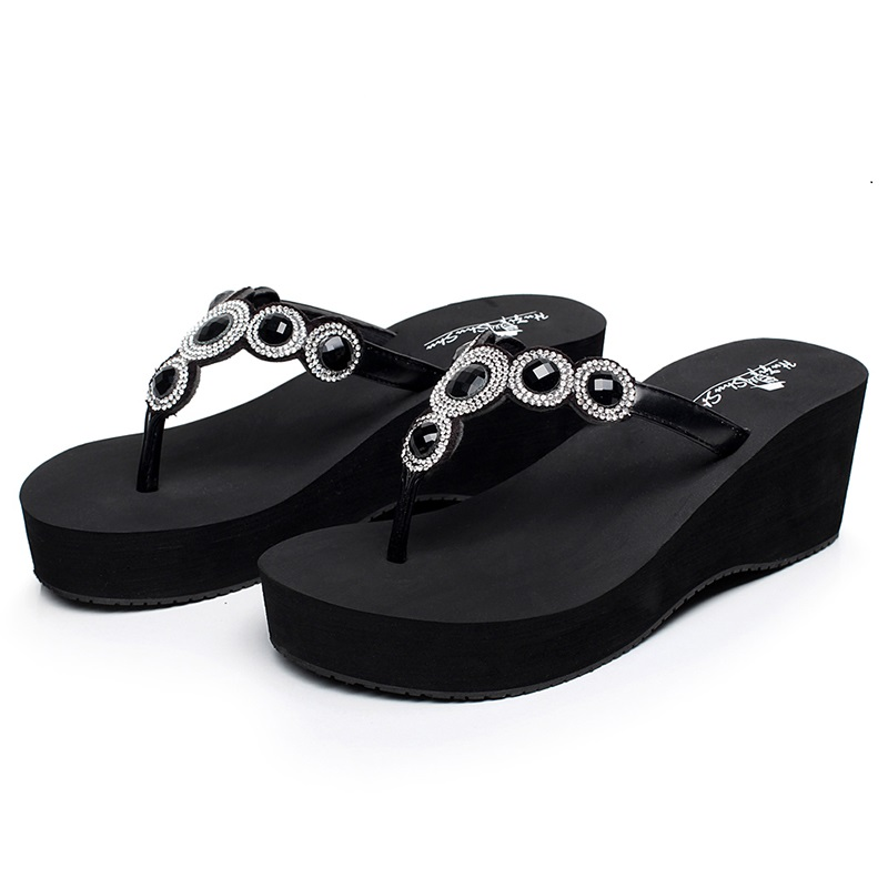 2beb49adcd7c Detail Feedback Questions about HIGH quality womens Flip Flops diamond flats  Slippers Beach Shoes crystal Outdoor Platform Sandals Ladies Casual Fashion  ...