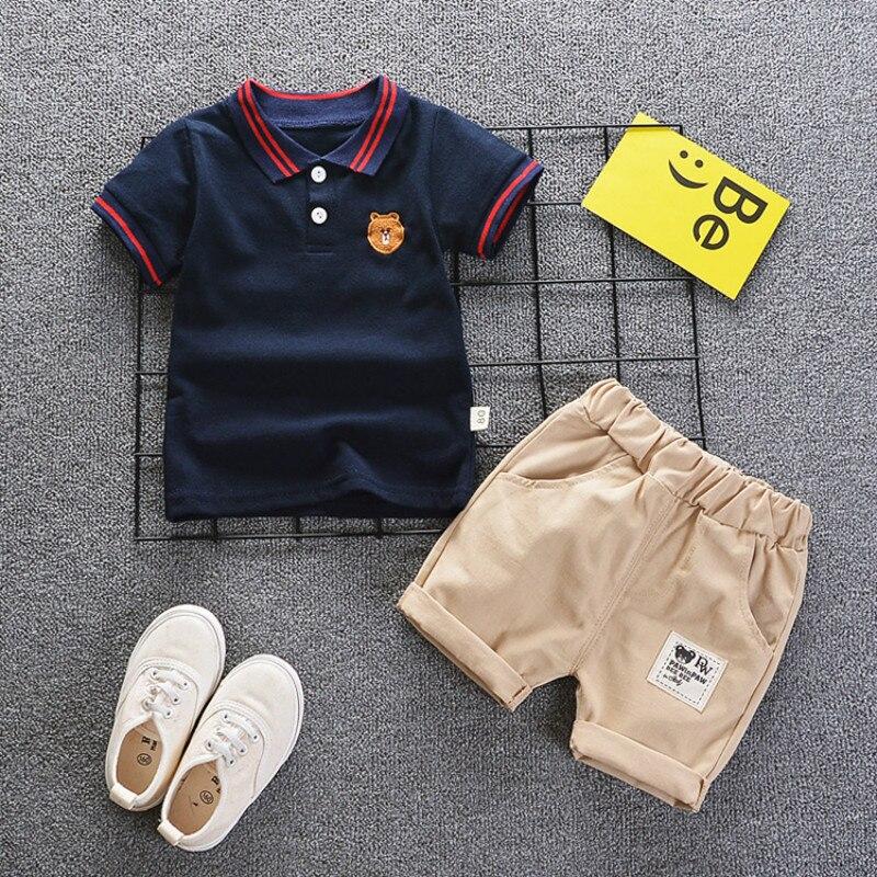 ccdab083e BibiCola 2019 bebé niños ropa de moda niños de verano conjunto de ropa de  algodón camiseta + Pantalones cortos 2 piezas trajes ropa de niños para 1-5Y