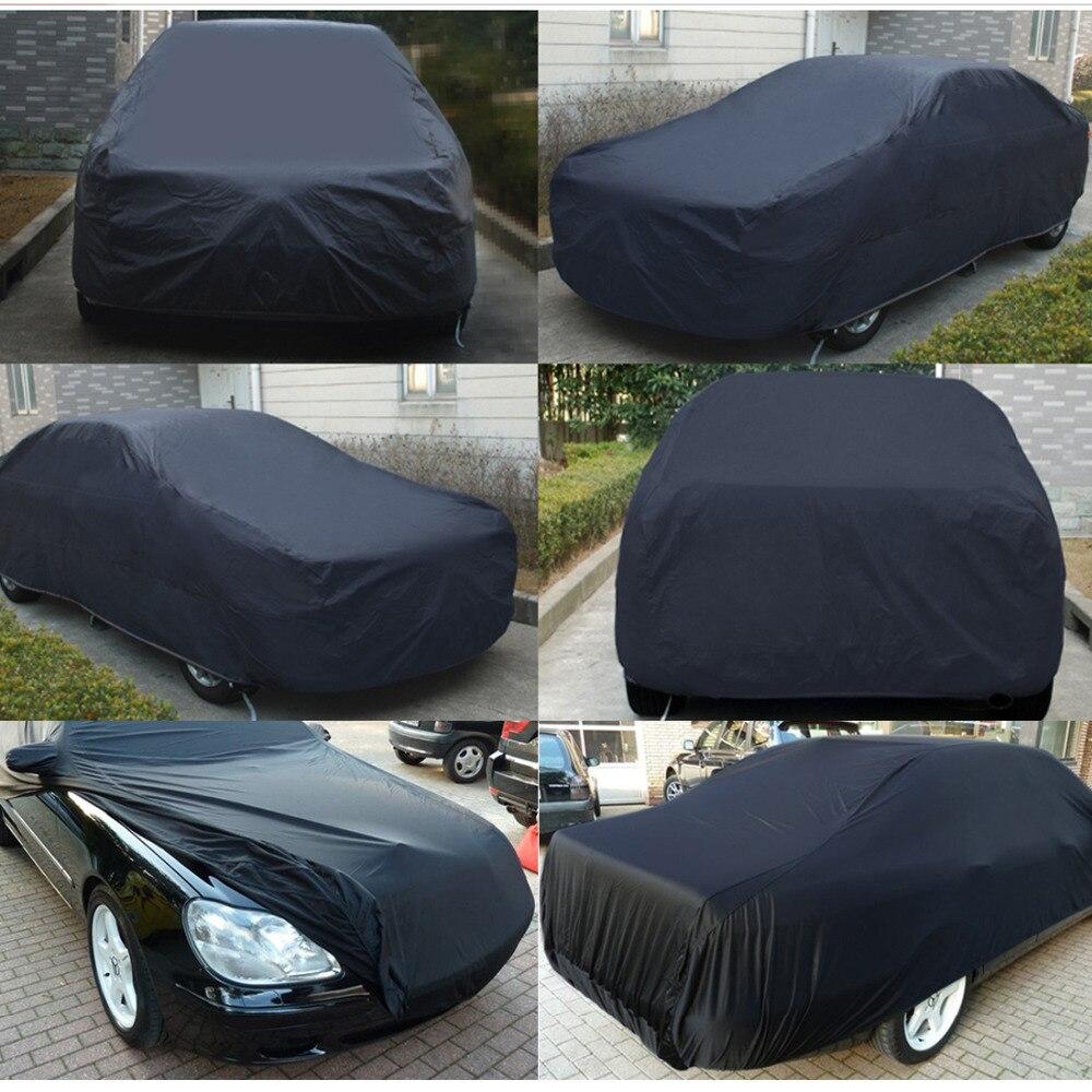 UXCELL Universel Noir Respirant Tissu Imperméable bâche de voiture w Miroir Poche D'hiver de Neige D'été Pleine Protection De Voiture COUVRE - 3