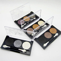 New Fashion Eyes Makeup Cosmetic Waterproof Longlasting 3 Color Metallic Shimmer Glitter Smoky Pigmented Eyeshadow Palette Set